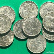 Monedas antiguas de Europa: ALEMANIA NAZI ,GRAN LOTE DE 10 MONEDAS DE PLATAS DE 2 REICHSMARK. Lote 182789410