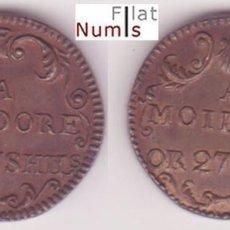 Monedas antiguas de Europa: PORTUGAL - 27 CHELINES - 1702/1707 - COBRE - NO CIRCULADA. Lote 182872708