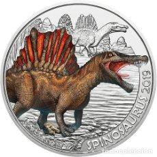 Monedas antiguas de Europa: AUSTRIA 3 EURO 2019 SPINOSAURUS LA 1ª DE LA SERIE DINOSAURIOS - BRILLA OSCURIDAD. Lote 182991716