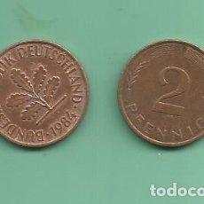 Monedas antiguas de Europa: ALEMANIA RFA. 2X2 PFENNIG 1984-D,J. Lote 183038013