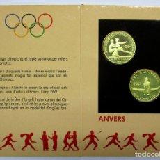 Monedas antiguas de Europa: ANDORRA, 1992. XVI JUEGOS OLIMPICOS DE ALBERTVILLE. 2 MONEDAS DE 20 DINERS EN PLATA. LOTE 2127. Lote 183189396