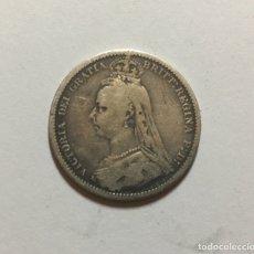 Monedas antiguas de Europa: MONEDA DE PLATA 6 PENIQUES REINA VICTORIA 1887 INTERESANTE.. Lote 183204322