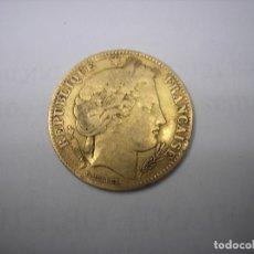 Monedas antiguas de Europa: FRANCIA, 10 FRANCOS DE ORO DE 1850 A. TIPO CERES. Lote 183262263