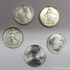 Monedas antiguas de Europa: FRANCIA. CONJUNTO DE 5 MONEDAS ANTIGUAS DE PLATA. LOTE 2139. Lote 183414202