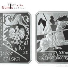 Monedas antiguas de Europa: POLONIA - 10 ZLOTYK - 2007 - CABALLERIA - SIN CIRCULAR - PLATA - PROOF. Lote 183417488