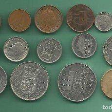 Monedas antiguas de Europa: HOLANDA 15 MONEDAS DE 15 MODELOS DIFERENTES. Lote 183455853