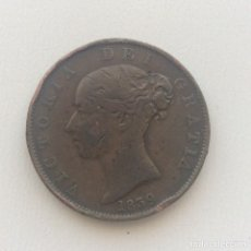 Monedas antiguas de Europa: 1/2 PENNY ISLA DE MAN REINA VICTORIA1839. Lote 183468253