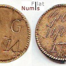Monedas antiguas de Europa: GRAN BRETAÑA - 1/2 GUINEA - D.G. 2-14 - 1772 - JORGE III - BRONCE - E.B.C++. Lote 183493036