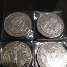 Monedas antiguas de Europa: COLECCIÓN 4 ONZAS PLATA PURA SUIZA HISTORIA GUILLERMO TELL. Lote 183510818
