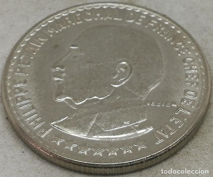 Monedas antiguas de Europa: RÉPLICA PRUEBA. Moneda 1941. 10 Francos. Mariscal Petain. Estado Francés, Francia, Vichy. II Guerra - Foto 2 - 183567577
