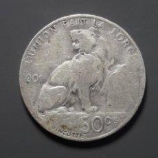 Monedas antiguas de Europa: PLATA: 50 CENTIMES 1901. Lote 183607461