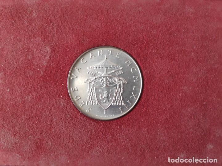MONEDA DE PLATA 500 LIRAS SEDE VACANTE 1958 (Numismática - Extranjeras - Europa)