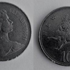 Monedas antiguas de Europa: REINO UNIDO MONEDA, 10 NEW PENCE-10 PENIQUES 1970.. Lote 183876010