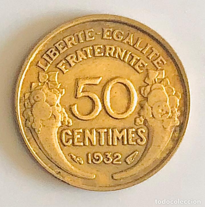 50 CENTIMES 1932 FRANCIA ÉPOCA PERIODO ENTRE GUERRAS (Numismática - Extranjeras - Europa)
