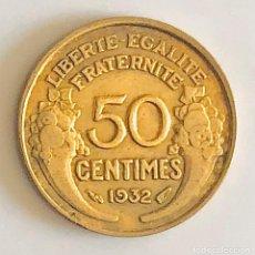 Monedas antiguas de Europa: 50 CENTIMES 1932 FRANCIA ÉPOCA PERIODO ENTRE GUERRAS. Lote 175284348