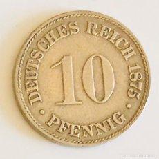 Monedas antiguas de Europa: 10 PHENNIG 1875 IMPERIO ALEMÁN FRANKFURT. Lote 169085628