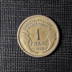 Monedas antiguas de Europa: FRANCIA 1 FRANC 1938 KM885. Lote 184116770