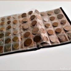 Monedas antiguas de Europa: GRAN ALBUM CON 250 MONEDAS VARIAS DEL MUNDO. Lote 184560810
