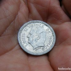 Monedas antiguas de Europa: MONNACO 1 FRANCO 1943 -ALUMINIO-. Lote 184572951