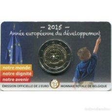 Monedas antiguas de Europa: COINCARD 2 € BÉLGICA 2015 DESARROLLO. Lote 207199040