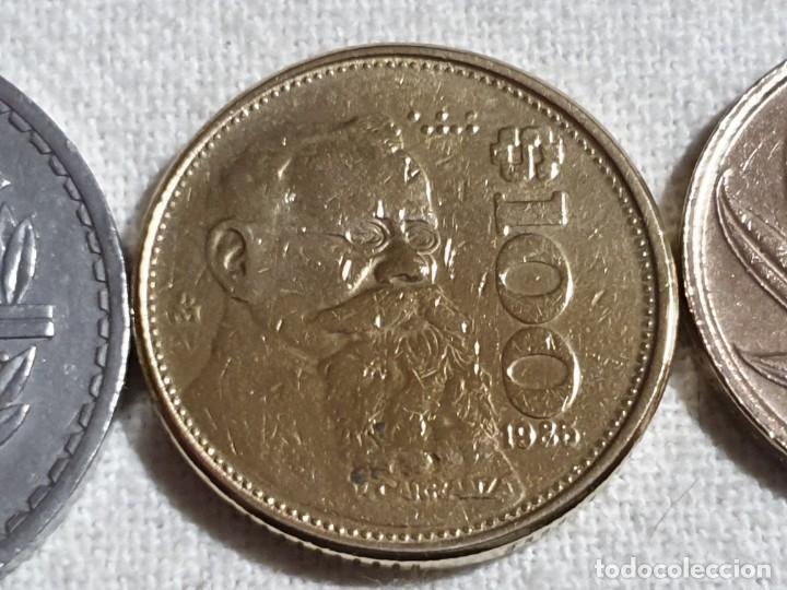 Monedas antiguas de Europa: Lote 3 monedas MBC - 5 francs + 100 pesos + 20 francs - Foto 4 - 184664270