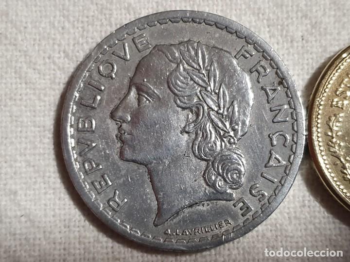 Monedas antiguas de Europa: Lote 3 monedas MBC - 5 francs + 100 pesos + 20 francs - Foto 8 - 184664270