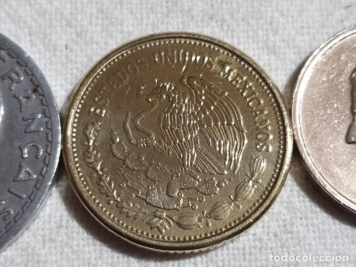 Monedas antiguas de Europa: Lote 3 monedas MBC - 5 francs + 100 pesos + 20 francs - Foto 9 - 184664270