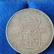 Monnaies anciennes de France: SUECIA -- 1 CORONA DE PLATA DE 1966. Lote 184720278