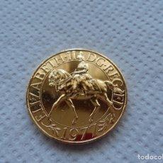 Monedas antiguas de Europa: ELIZABETH II DG. REG FD 1977 CHAPADA EN ORO.. Lote 184795957