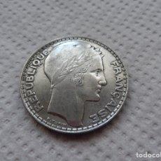 Monedas antiguas de Europa: FRANCIA 20 FRANCOS AÑO 1933 , PLATA.. Lote 184814635