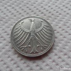 Monedas antiguas de Europa: ALEMANIA 5 MARCOS AÑO 1951 , PLATA.. Lote 184867282