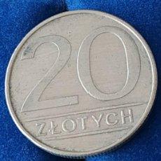 Monnaies anciennes de France: POLONIA - 20 ZLOTYCH DE 1986. Lote 184950422