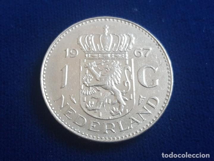 Monedas antiguas de Europa: MONEDA / 1 FLORIN - GULDEN 1967 HOLANDA - Foto 2 - 185720651