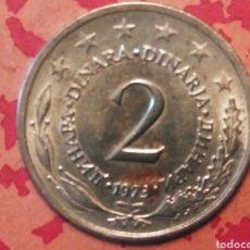 Monedas antiguas de Europa: 2 DINARA 1973 YUGOSLAVIA. Lote 185895518