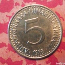 Monedas antiguas de Europa: 5 DINARA 1983 YUGOSLAVIA. Lote 185901508