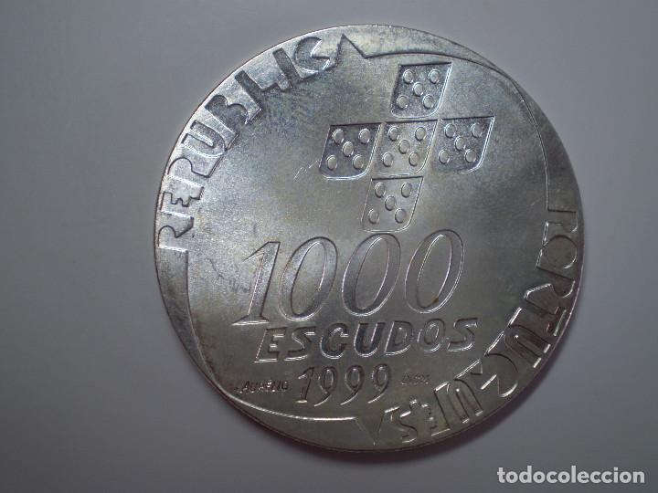Monedas antiguas de Europa: 1000 ESCUDOS PLATA 1999 PORTUGAL. 26 de Abril (Excelente estado) 40mm 27g (Ag 500) - Foto 2 - 186026108
