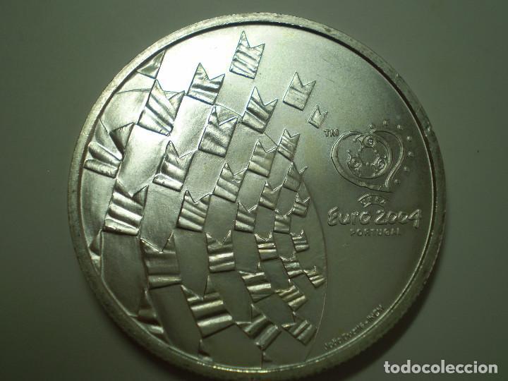8 EUROS PLATA 2003 PORTUGAL. EUROCOPA FUTBOL 2004 - LOS VALORES DEL FÚTBOL (EXCELENTE ESTADO) (Numismática - Extranjeras - Europa)