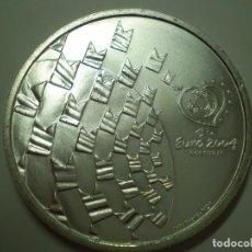 Monedas antiguas de Europa: 8 EUROS PLATA 2003 PORTUGAL. EUROCOPA FUTBOL 2004 - LOS VALORES DEL FÚTBOL (EXCELENTE ESTADO). Lote 186027957