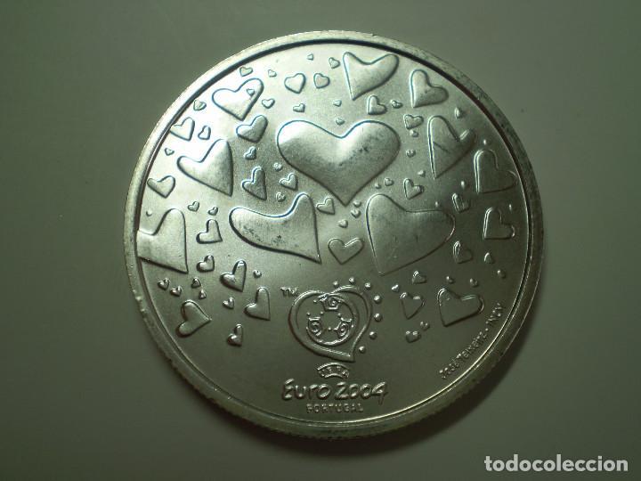 8 EUROS PLATA 2003 PORTUGAL. EUROCOPA FUTBOL 2004 - EL FUTBOL ES PASION (EXCELENTE ESTADO) (Numismática - Extranjeras - Europa)