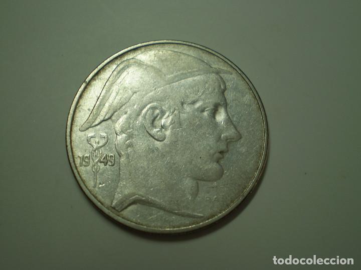 20 FRANCS PLATA BELGICA DEL 1949. (FRANCOS BELGAS) (Numismática - Extranjeras - Europa)