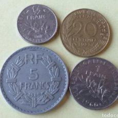 Monedas antiguas de Europa: LOTE DE 4 MONEDAS DE FRANCIA. Lote 186156746