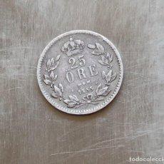 Monedas antiguas de Europa: 25 ORE 1855 PLATA SUECIA. Lote 187477921