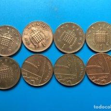 Monedas antiguas de Europa: X-1418 )G, BRETAÑA,,8 MONEDAS DE 1 PENIQUE 2004- 2012 ,,TODAS DISTINTAS FECHAS. Lote 187586032