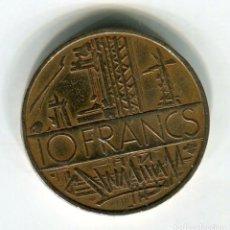 Monedas antiguas de Europa: FRANCIA 10 FRANCOS AÑO 1977. Lote 187586378