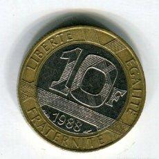 Monedas antiguas de Europa: FRANCIA 10 FRANCOS AÑO 1988. Lote 187589040