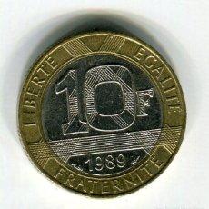 Monedas antiguas de Europa: FRANCIA 10 FRANCOS AÑO 1989 (2). Lote 187589202