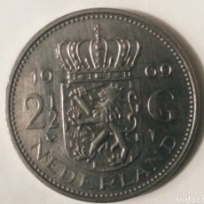 Monedas antiguas de Europa: 2 G. 1969 HOLANDA. Lote 187591946
