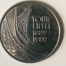 Monedas antiguas de Europa: 5 FRANCOS TORRE EIFFEL FRANCIA. Lote 187592118