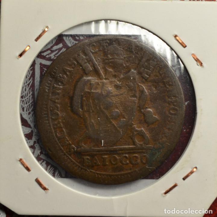 Monedas antiguas de Europa: Pio VII Baiocco (1801) MBC KM# 1263, Estados papales - Foto 2 - 187649330