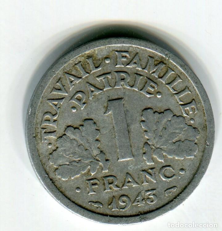 FRANCIA 1 FRANCO AÑO 1943 (Numismática - Extranjeras - Europa)